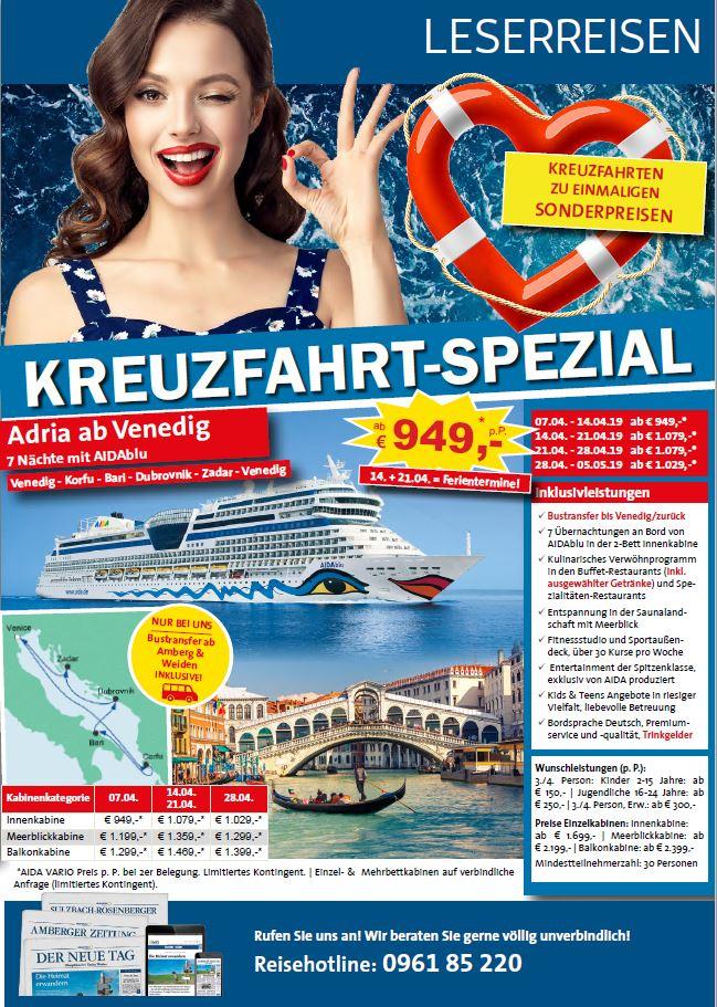 Kreuzfahrten-Beileger 2018